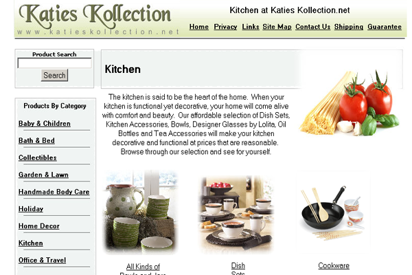 KatiesKollection - eCommerce